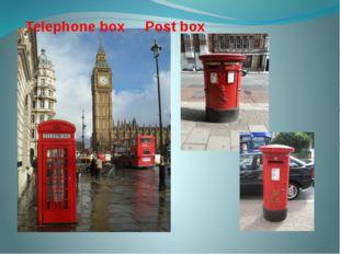 Telephone box Post box