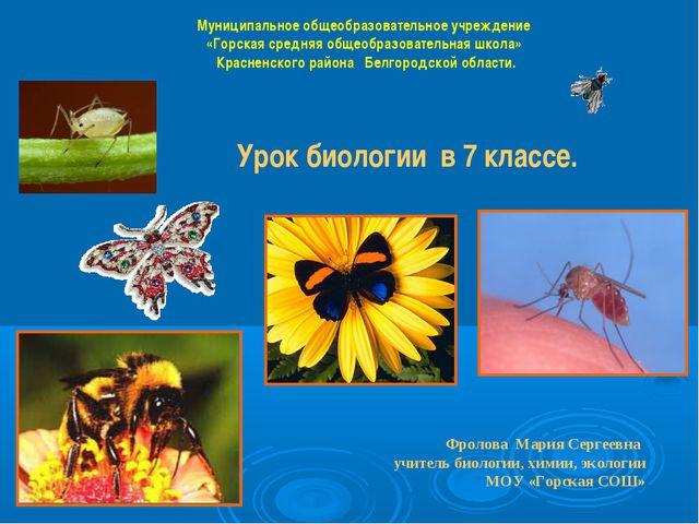 Муниципальное общеобразовательное учреждение «Горская средняя общеобразовател...
