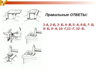 Правильные ОТВЕТЫ: 1-А, 2-Б, 3- Б, 4- В, 5- А, 6-Б, 7- Б, 8- Б, 9- А, 10- Г,