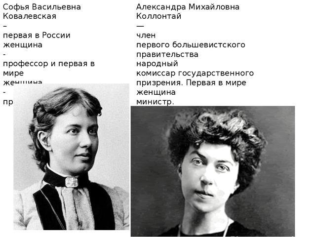 Софья Васильевна Ковалевская – первая в России женщина - профессор и первая в...