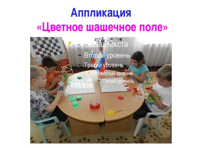 Аппликация  «Цветное шашечное поле»