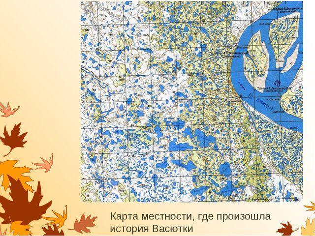 Карта местности, где произошла история Васютки