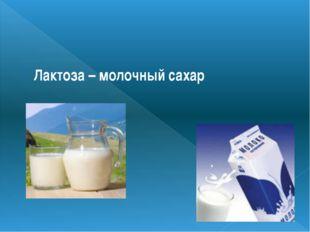 Лактоза – молочный сахар