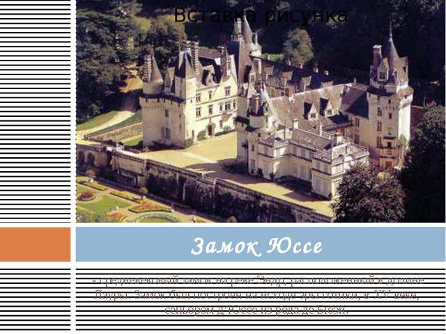 - средневековый замок на реке Эндр, расположенный в долине Лауры. Замок был...