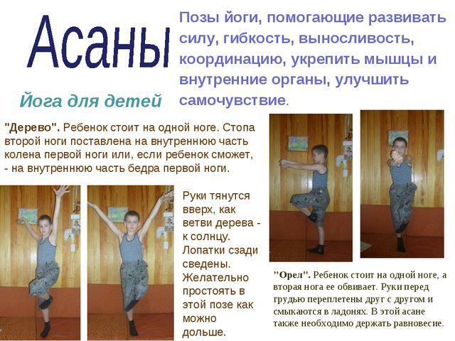 Позы йоги, помогающие развивать силу, гибкость, выносливость, координацию, у...