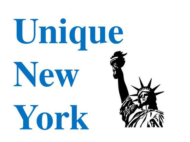 Unique New York