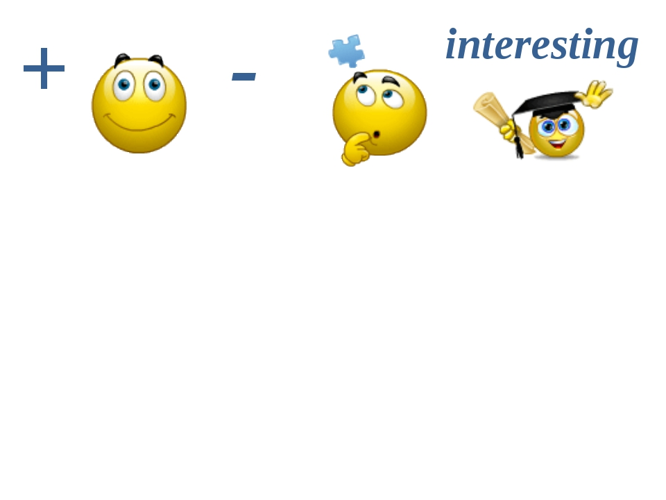 + - interesting