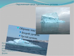 Окружающая среда Арктического региона Что нас окружает?? Путешествуя в этом р