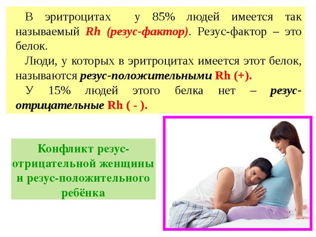 В эритроцитах у 85% людей имеется так называемый Rh (резус-фактор). Резус-фак...