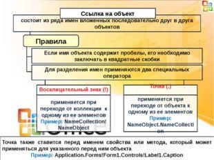 состоит из ряда имен вложенных последовательно друг в друга объектов Ссылка н