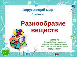 Составила Ждан Любовь Ивановна учитель начальных классов МБОУ «Средняя школа