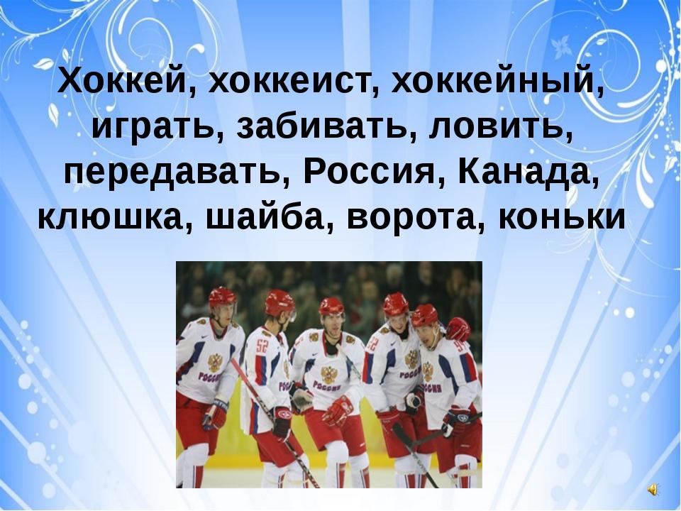 Хоккей, хоккеист, хоккейный, играть, забивать, ловить, передавать, Россия, К...