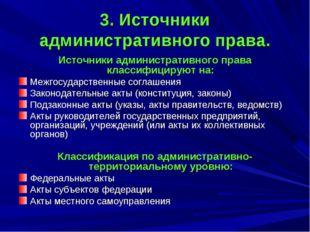 3. Источники административного права. Источники административного права класс