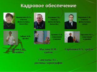 Кадровое обеспечение Французова Н.Л., учитель физкультуры, баскетбол Казанцев