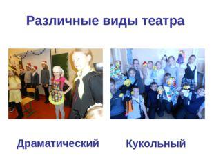 Различные виды театра Драматический Кукольный
