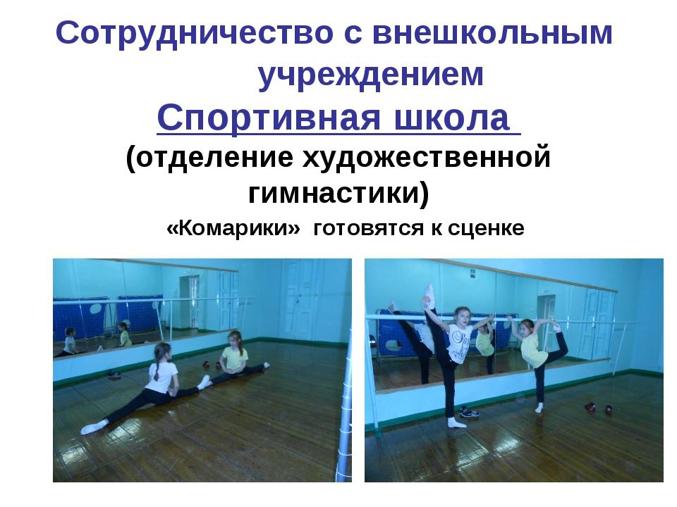 Сотрудничество с внешкольным учреждением Спортивная школа (отделение художес...