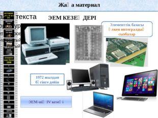 Жаңа материал Компьютердің сәулеті (архитектурасы) – компьютердің құрылымы ме