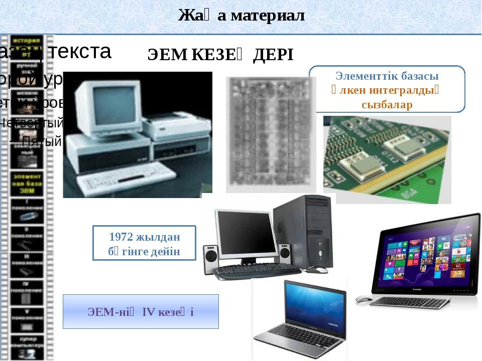 Жаңа материал Компьютердің сәулеті (архитектурасы) – компьютердің құрылымы ме...