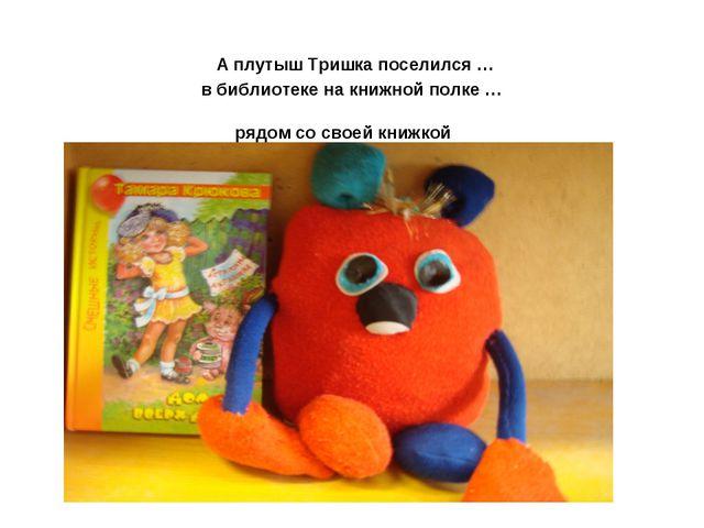 А плутыш Тришка поселился … в библиотеке на книжной полке … рядом со своей к...