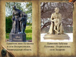 Памятник бабушке Пушкина . Подмосковье, село Захарово Памятникняне Пушкина