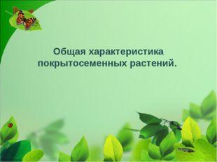 Общая характеристика покрытосеменных растений.