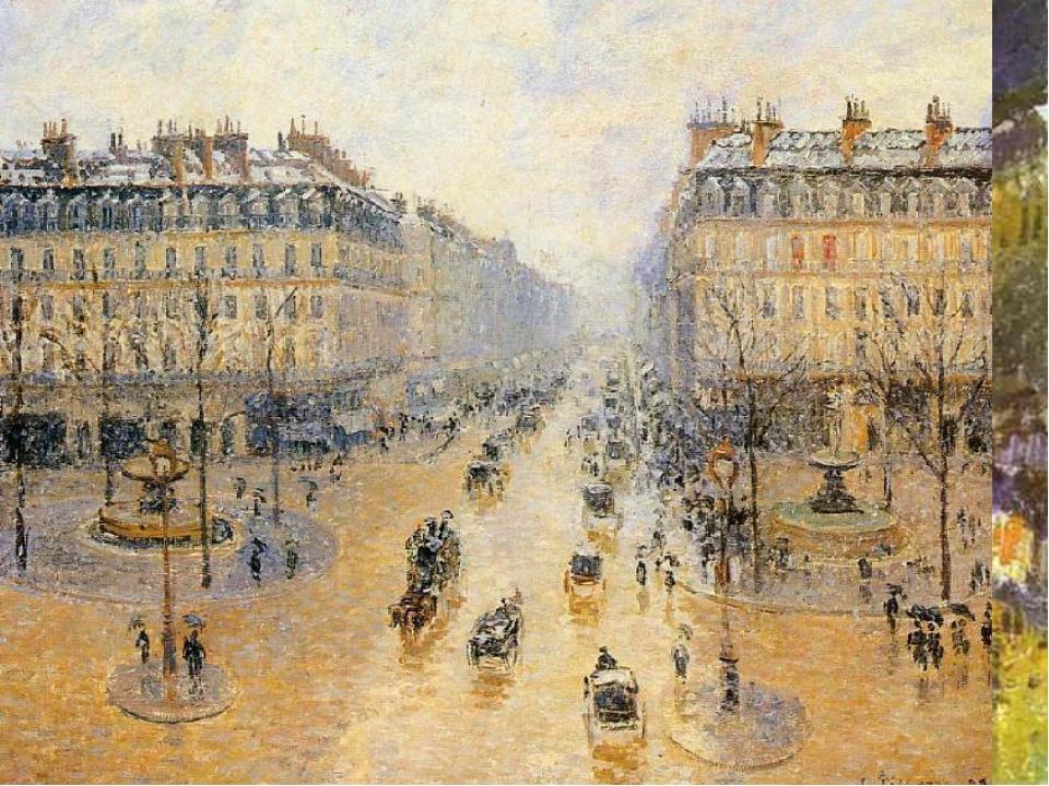 Бульвар Монмартр в Париже -