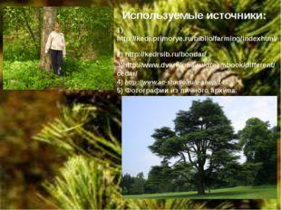 Используемые источники: 1) http://kedr.primorye.ru/biblio/farming/indexhtml/