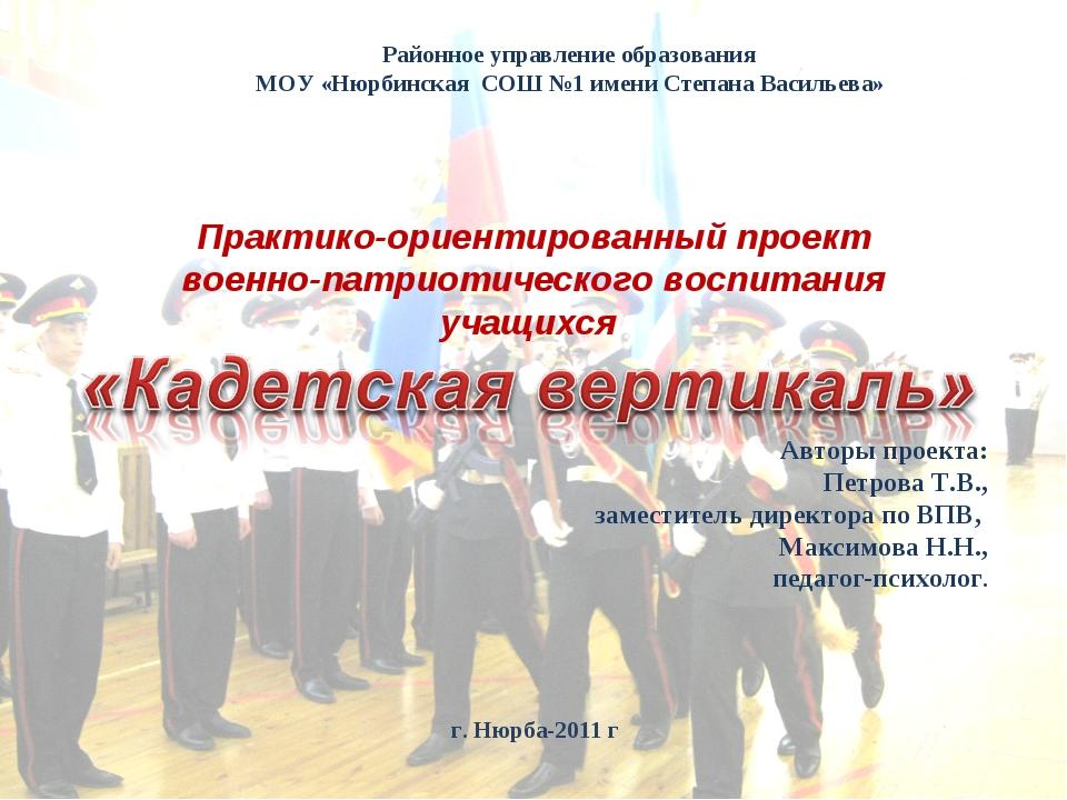 Практико-ориентированный проект военно-патриотического воспитания учащихся Ав...