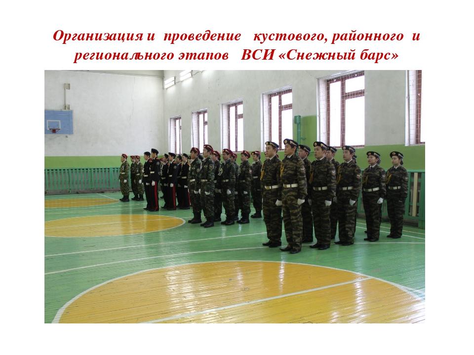Организация и проведение кустового, районного и регионального этапов ВСИ «Сне...
