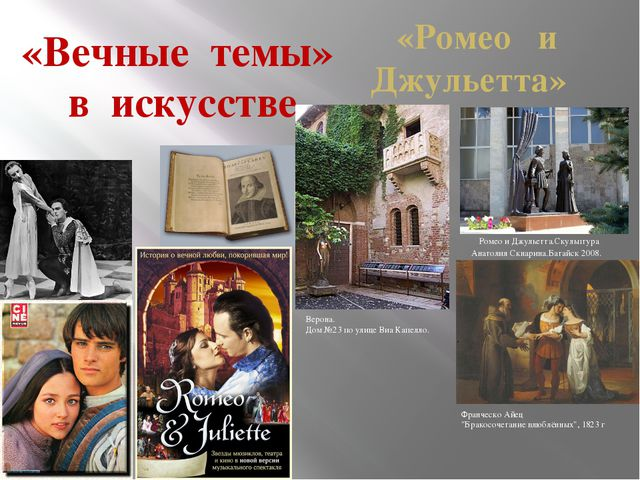 «Вечные темы» в искусстве «Ромео и Джульетта»  Ромео и Джульетта.Скульптура...