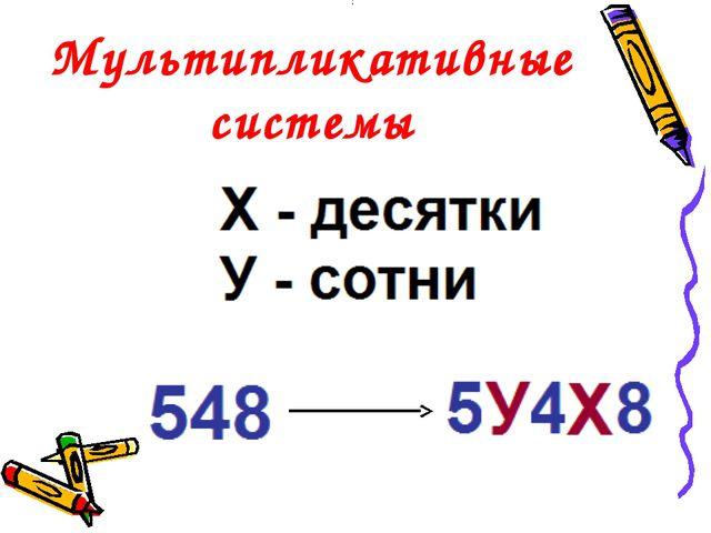 Мультипликативные системы :