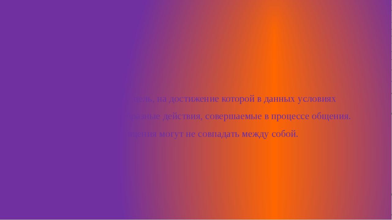 4. Задачи общения – цель, на достижение которой в данных условиях направлены...