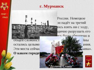 Этот город – крупный порт России. Немецкое командование считало, что он падёт