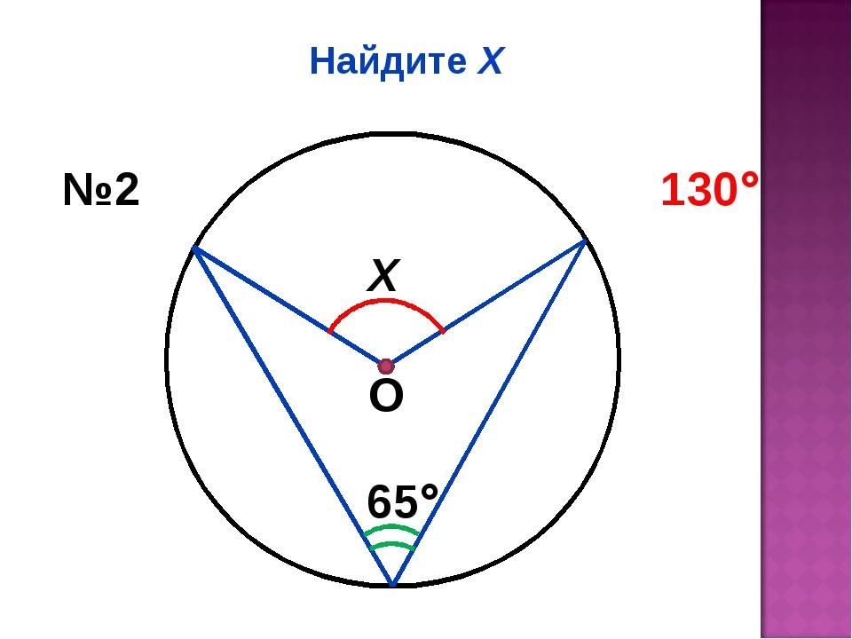 Найдите Х Х 65 №2 130 О