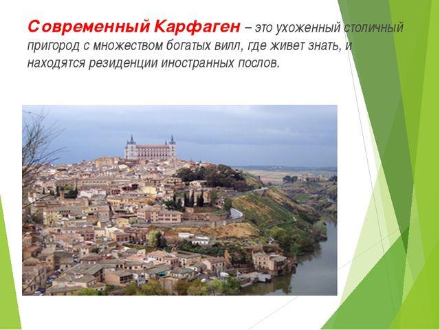 Современный Карфаген – это ухоженный столичный пригород с множеством богатых...