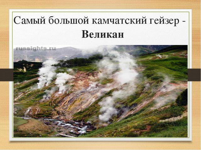 Самый большой камчатский гейзер - Великан