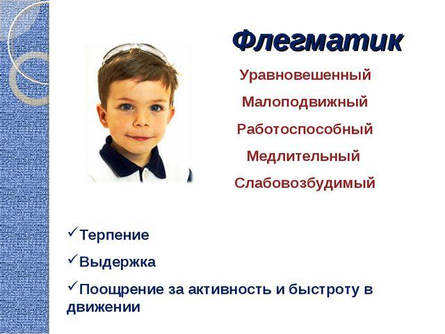 Флегматик Уравновешенный Малоподвижный Работоспособный Медлительный Слабовозб...