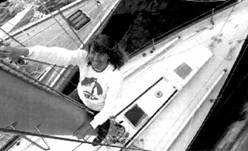 Наоми Джеймс, впервые совершившая на яхте одиночное кругосветное путешествие