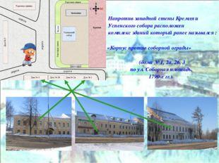 Напротив западной стены Кремля и Успенского собора расположен комплекс зданий