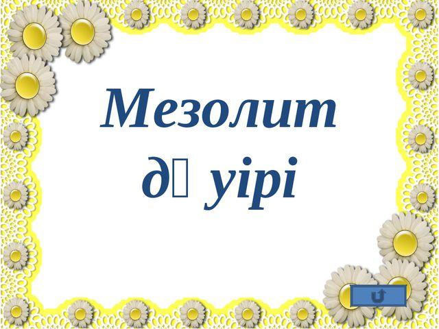 Мезолит дәуірі