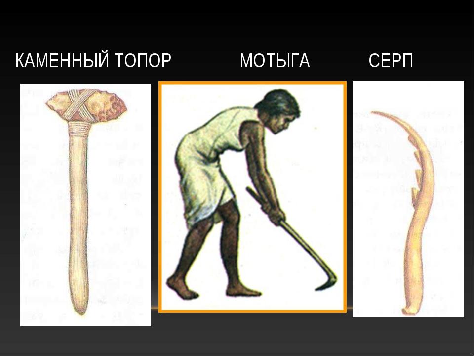 КАМЕННЫЙ ТОПОР МОТЫГА СЕРП
