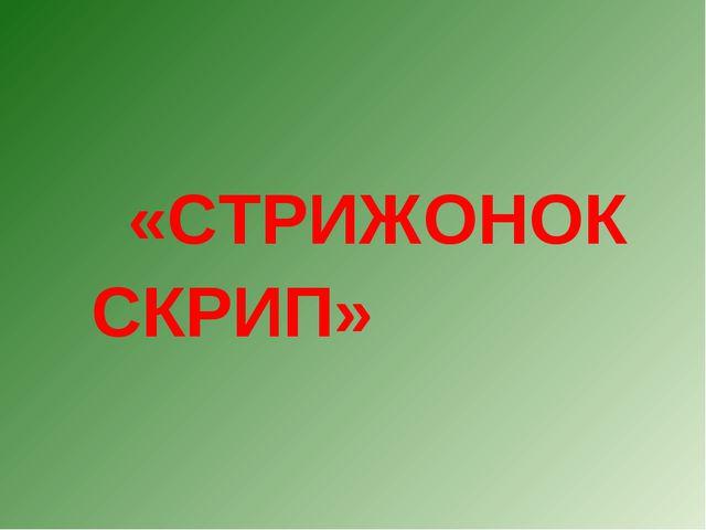 «СТРИЖОНОК СКРИП»