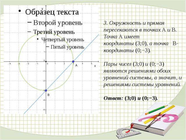 3. Окружность и прямая пересекаются в точкахAиB. ТочкаAимеет координаты...