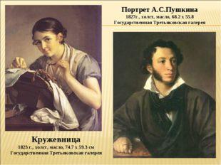 Кружевница 1823 г., холст, масло, 74.7 х 59.3 см Государственная Третьяковска