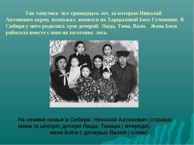 Так тянулись все тринадцать лет, за которые Николай Антонович окреп, возмужа...