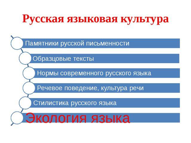 Русская языковая культура