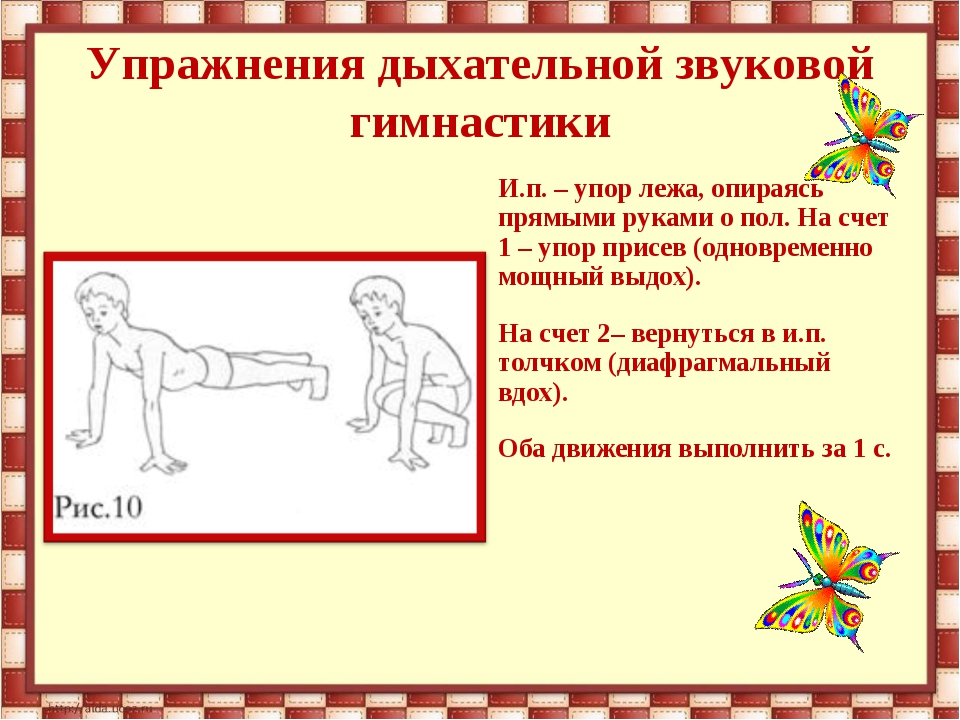 Комплекс дыхательных упражнений в картинках