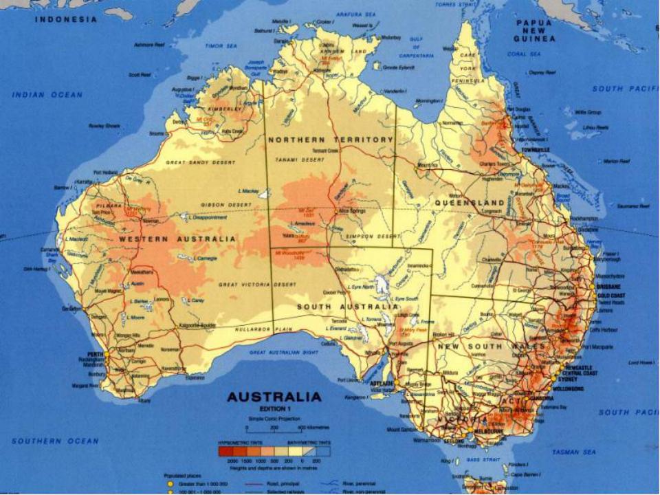австралия фото материка на карте мира