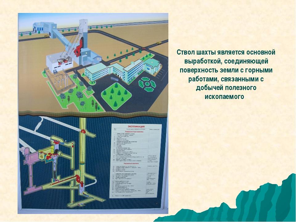 Ствол шахты является основной выработкой, соединяющей поверхность земли с гор...