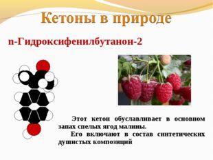 n-Гидроксифенилбутанон-2 Этот кетон обуславливает в основном запах спелых яго